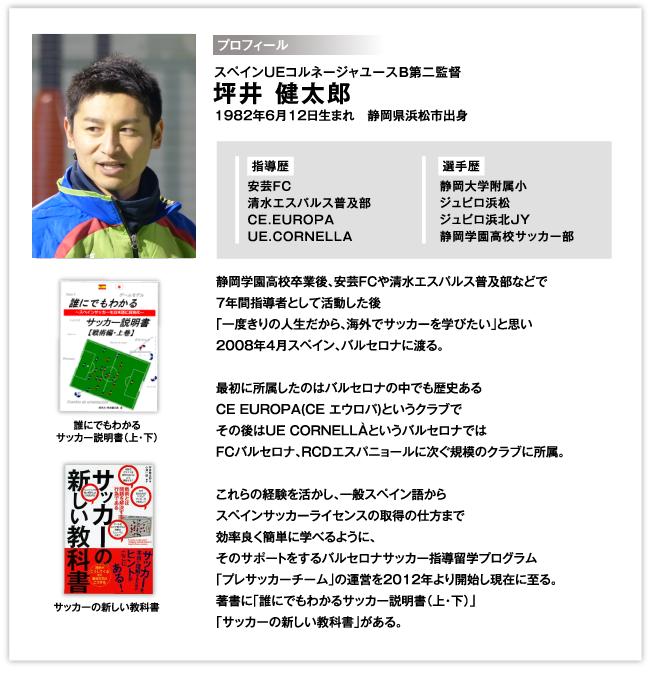 スペインUEコルネージャユースB第二監督 / 坪井 健太郎